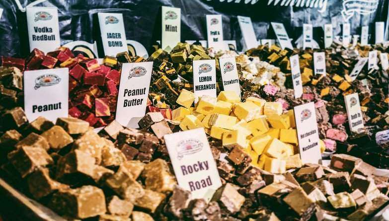 Buy Local Sweets At Christmas Markets