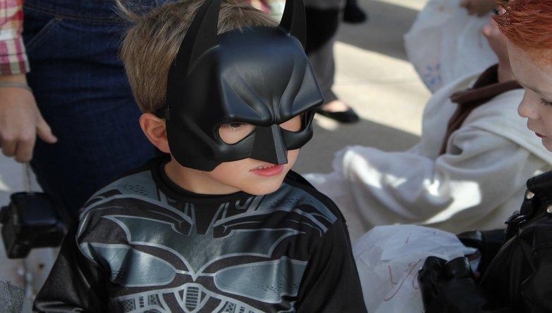Superhero At Halloween