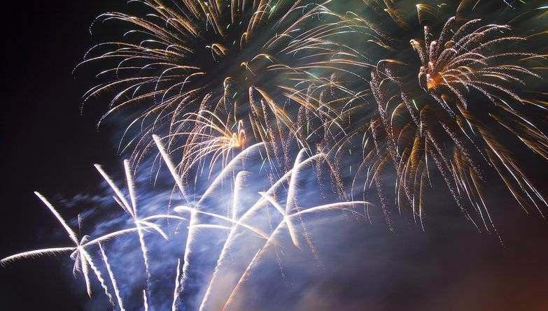 Spectacular Fireworks At Leeds Castle